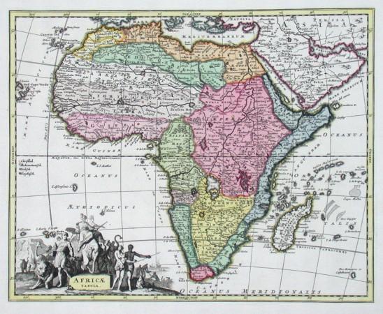 Africae tabula - Alte Landkarte