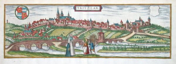 Fritzlar - Alte Landkarte
