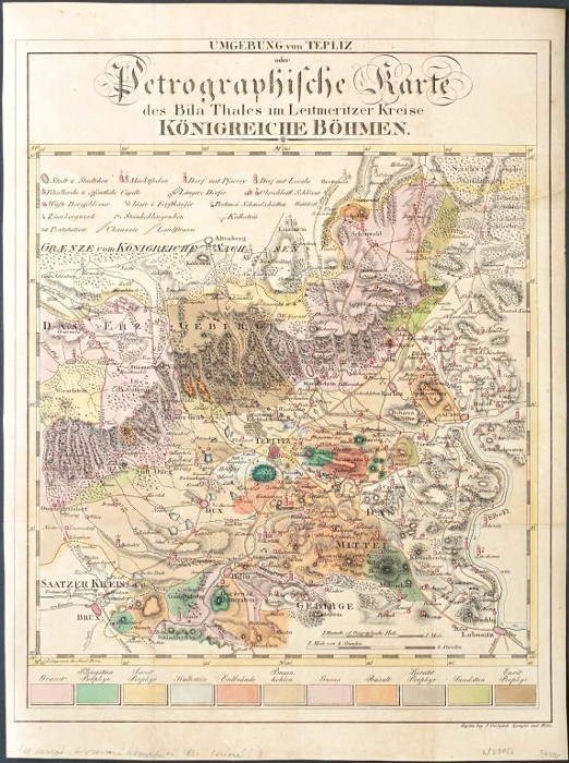 Umgebung von Teplitz oder Petrographische Karte