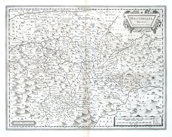 Westphalia Ducatus - Antique map