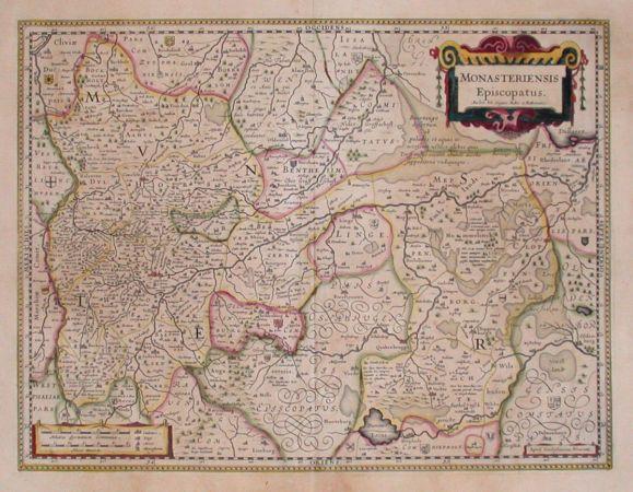 Monasteriensis Episcopatus - Alte Landkarte