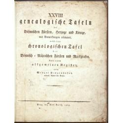 XXVIII genealogische Tafeln der Böhmischen Fürsten, Herzoge und Könige