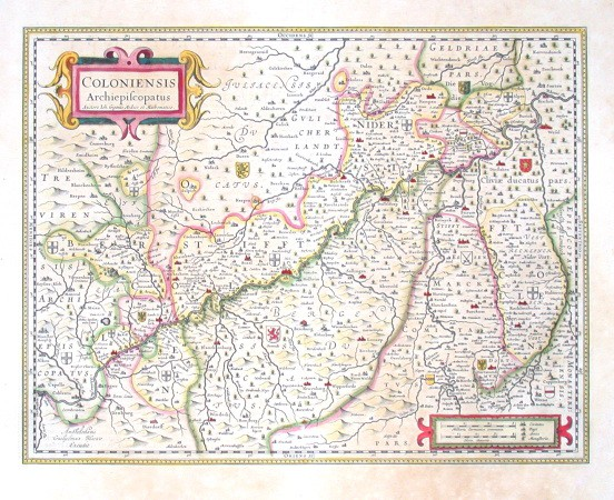 Coloniensis Archiepiscopatus - Antique map