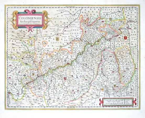 Coloniensis Archiepiscopatus - Antique map