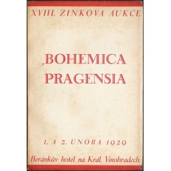 Karel Zink. XVIII. knižní aukce. Bohemica, Pragensia