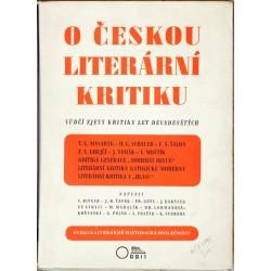O českou literární kritiku