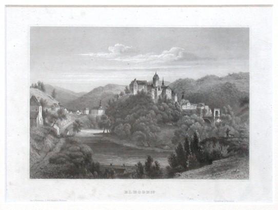 Elbogen - Antique map