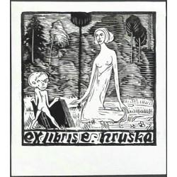Ex libris E. Hruška