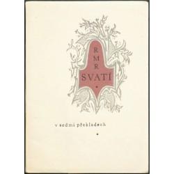 Rilkova báseň Svatí v sedmi překladech
