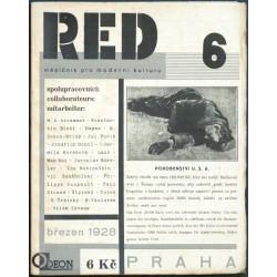 ReD 6. Revue Devětsil. Ročník 1. 1927-28. Čís. 6. Březen 1928