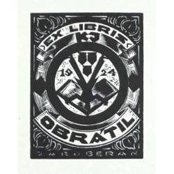 Exlibris K. J. Obrátil 1924