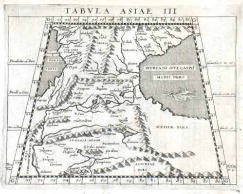 Tabvla Asiae III - Stará mapa