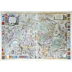 La Suisse Divisee en ses Treze Cantons ses Alliez & ses Sujets
