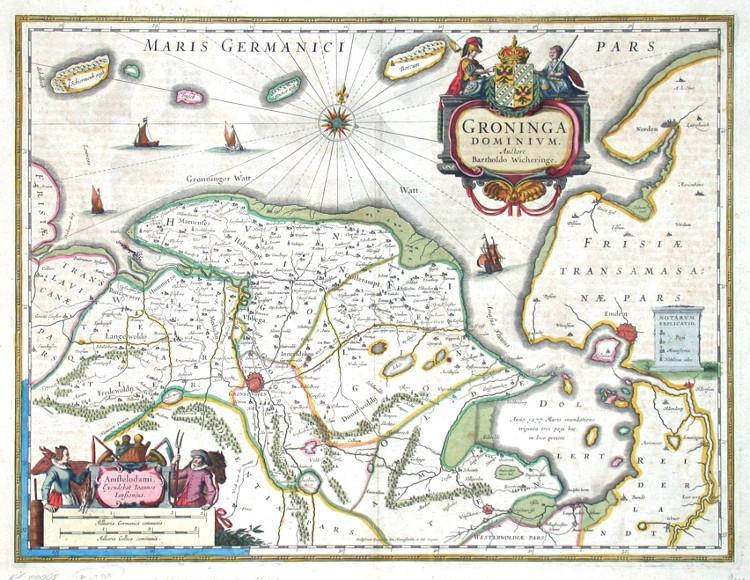 Groninga Dominium - Antique map