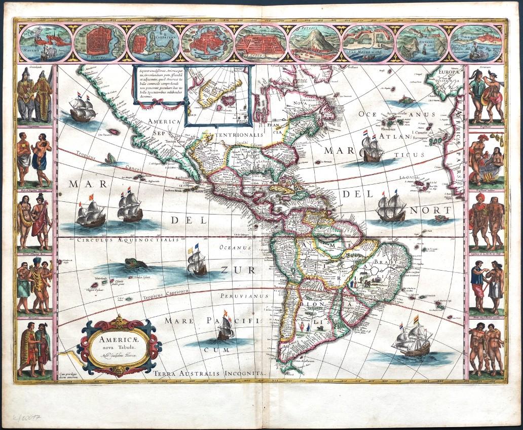 Americae nova Tabula - Antique map