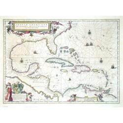 Insulae Americanae in Oceano Septentrionali cum Terris adiacentibus