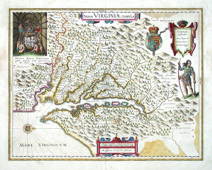Nova Virginiae tabula - Antique map