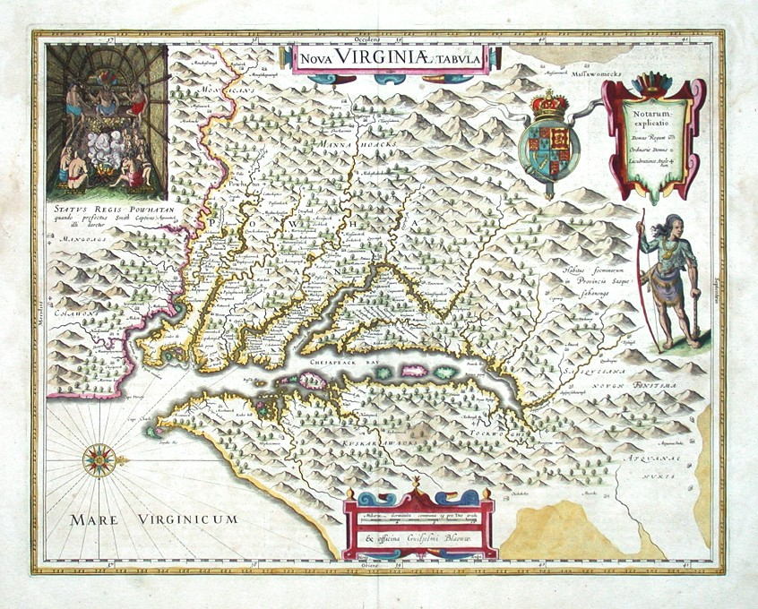 Nova Virginiae tabula - Stará mapa