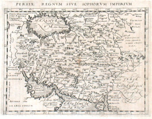 Persiae Regnvm Sive Sophorvm Imperivm - Stará mapa