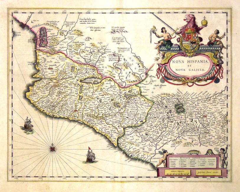 Nova Hispania et Nova Galicia - Stará mapa
