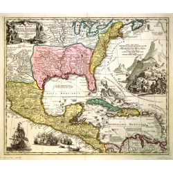 Regni Mexicani seu Novae Hispaniae, Floridae, Novae Angliae, Carolinae, Virginiae, et Pennsylvaniae  exhibita