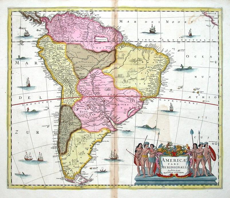 Americae pars meridionalis - Alte Landkarte