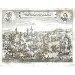 Delineatio Pugnae navalis ... anto Portum Fochianum ... 1649