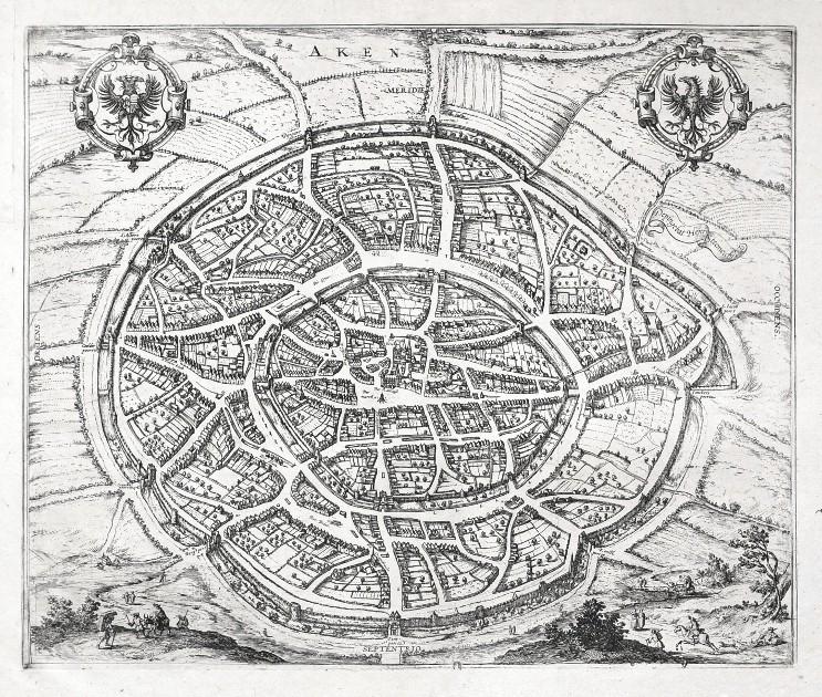 Aken - Alte Landkarte