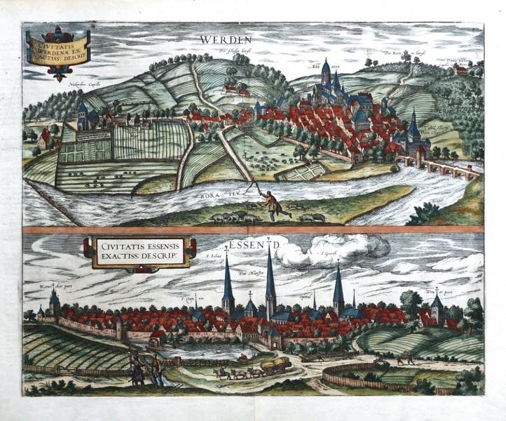 Werden - Essend - Alte Landkarte