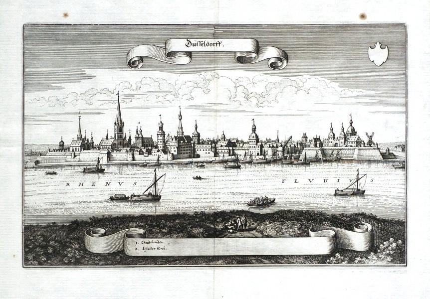 Düsseldorff - Stará mapa