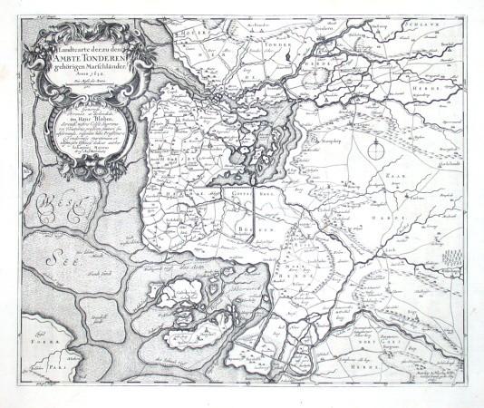 Landcarte der, zu dem Ambte Tondern gehörigen Marschländer - Stará mapa