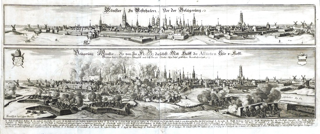 Münster in Westphalen. Vor der Belägerung. - Belägerung Münster.