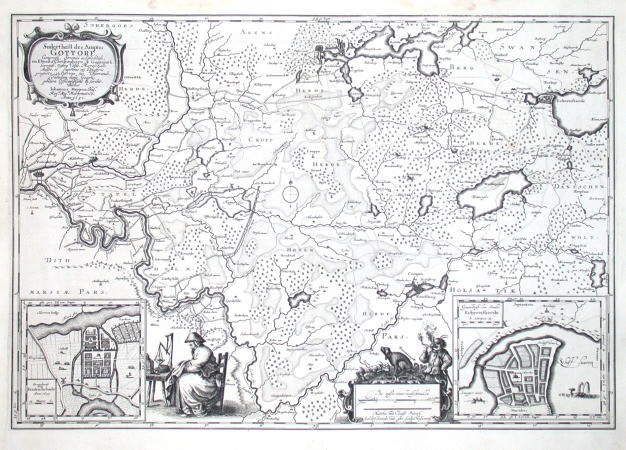 Sudertheil des Amptes Gottorf - Alte Landkarte