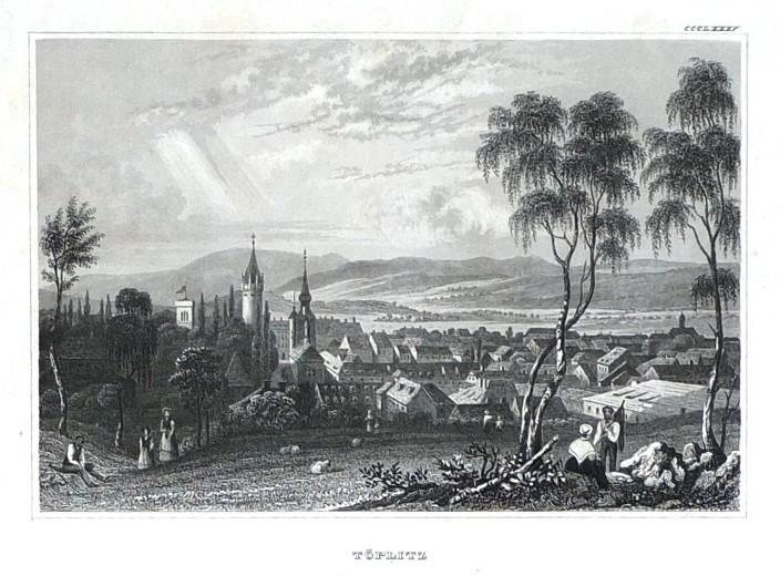 Töplitz - Antique map