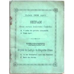 Seznam členů sněmu království Českého 1908