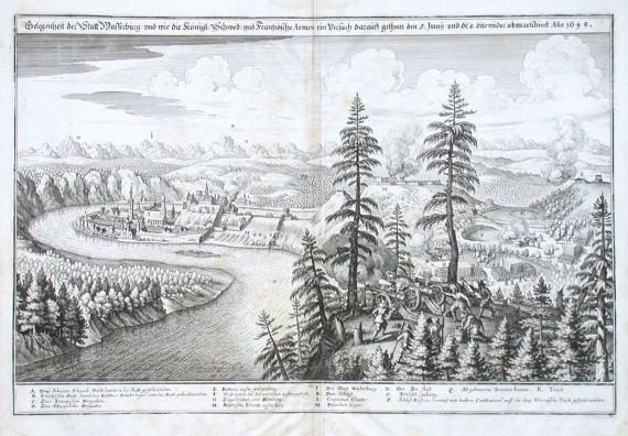 Belegenheit der Statt Wasserburg Anno 1648 - Alte Landkarte