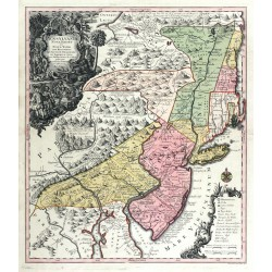 Pensylvania Nova Jersey et Nova York ... Nova Delineatione