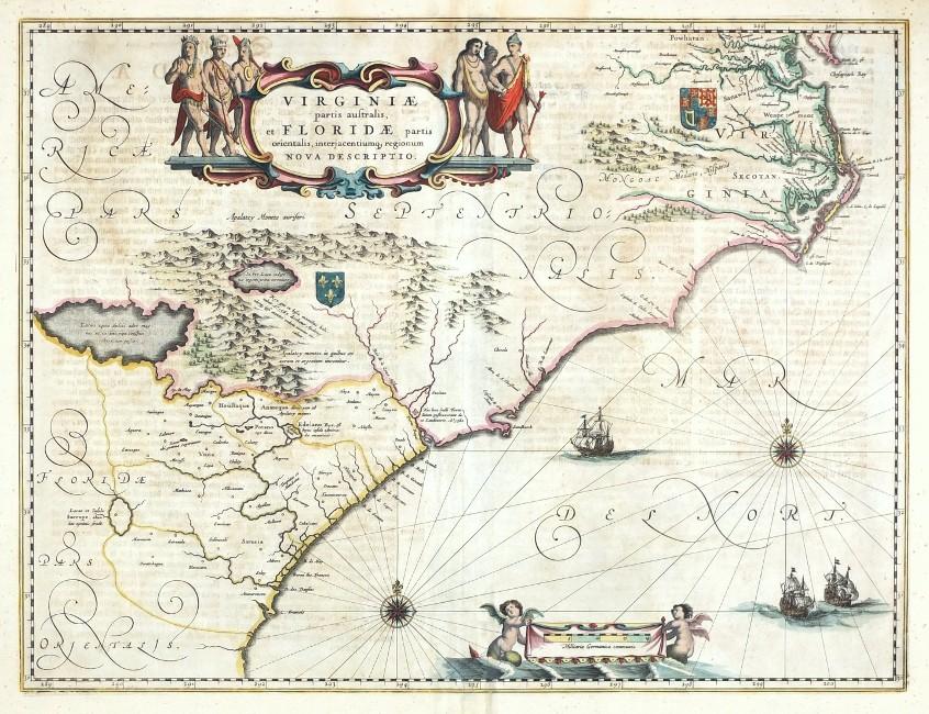 Virginiae partis australis, et Floridae partis orientalis nova descriptio.