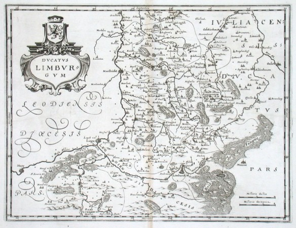 Ducatus Limburgum - Antique map