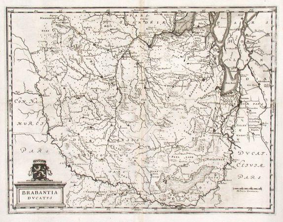 Brabantia Ducatus - Stará mapa