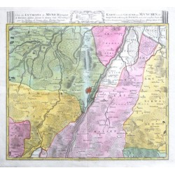 Carte des Environs de Munich - Karte von der Gegend um Munchen