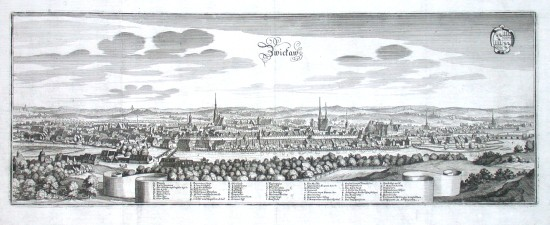 Zwickaw - Antique map