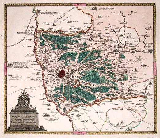 Nurnbergischer Bezirck - Alte Landkarte