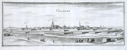 Geldern - Stará mapa