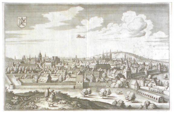 Altzey - Antique map