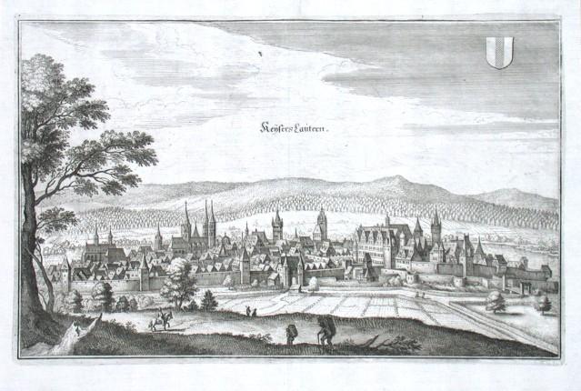 KeisersLautern - Alte Landkarte