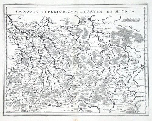 Saxonia superior cum Lusatia et Misnia - Stará mapa