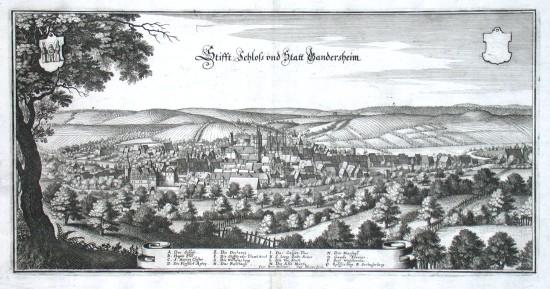Stifft: Schloss und Statt Gandersheim - Stará mapa