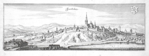 Franckenberg - Stará mapa