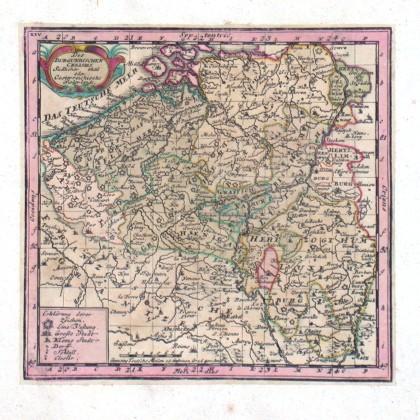 Des Burgundischen Creisses Südlicher theil oder Oesterreichische Niederlande - Alte Landkarte
